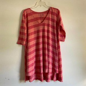 We The Free Free People Red Striped High Low Tunic